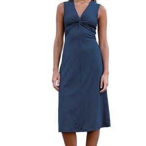 Patagonia Bandha blue twist front midi dress
